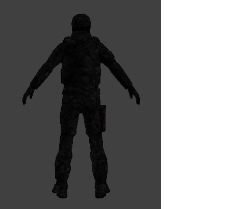3ds max army character