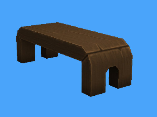 3ds outdoor wooden bench