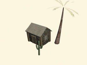 3d model cactus palm