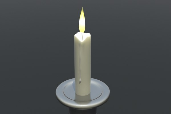 3d candle burning