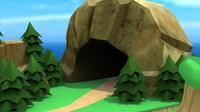 Cartoon Stone Cave