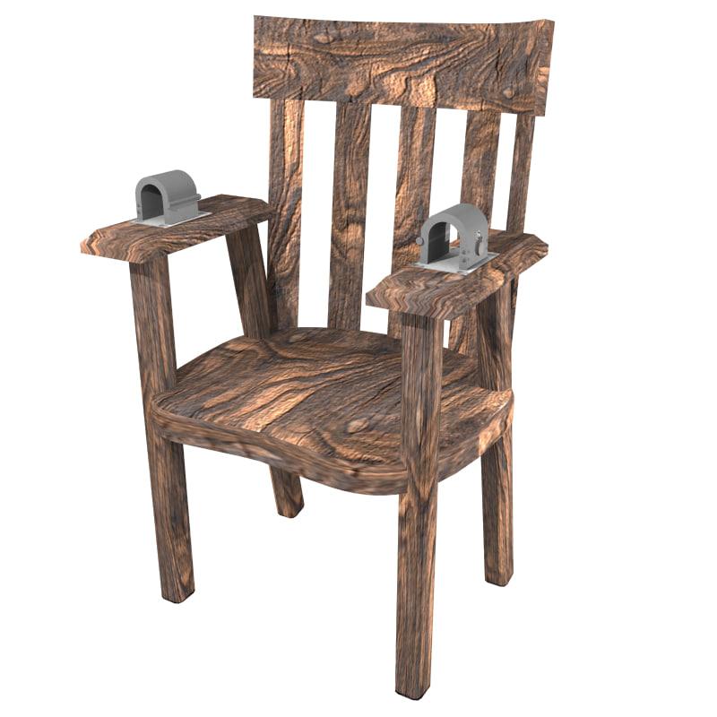restraint chair 3d model