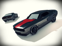 3d modified dodge challenger srt8 model