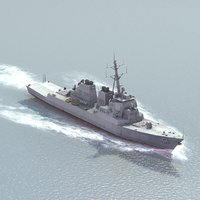 uss ddg51 destroyer 3d model