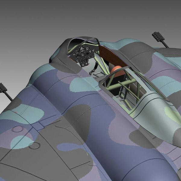 3ds max horten 229 aircraft fighter