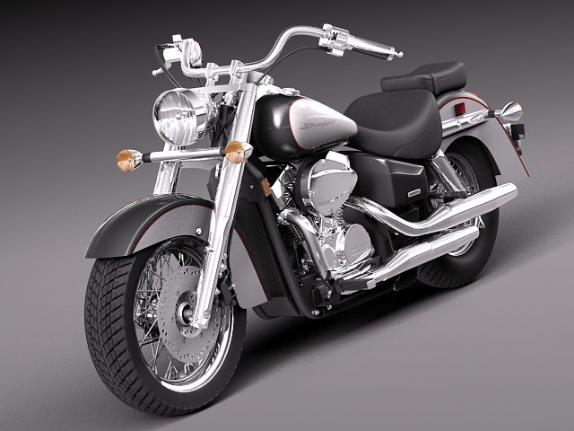 honda shadow aero 2012 3d model