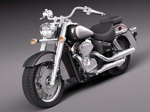 honda shadow aero 2012 3d model