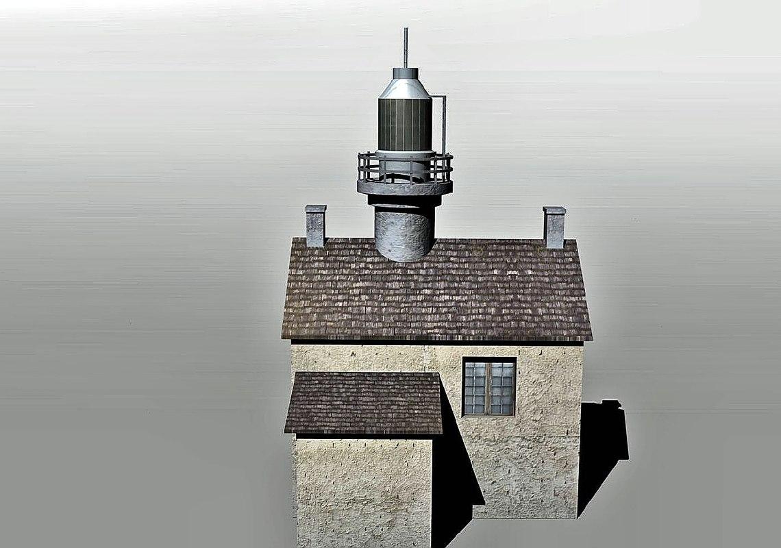 lighthouse house 3d 3ds