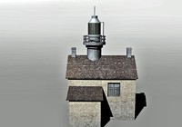 lighthouse house 3d 3ds