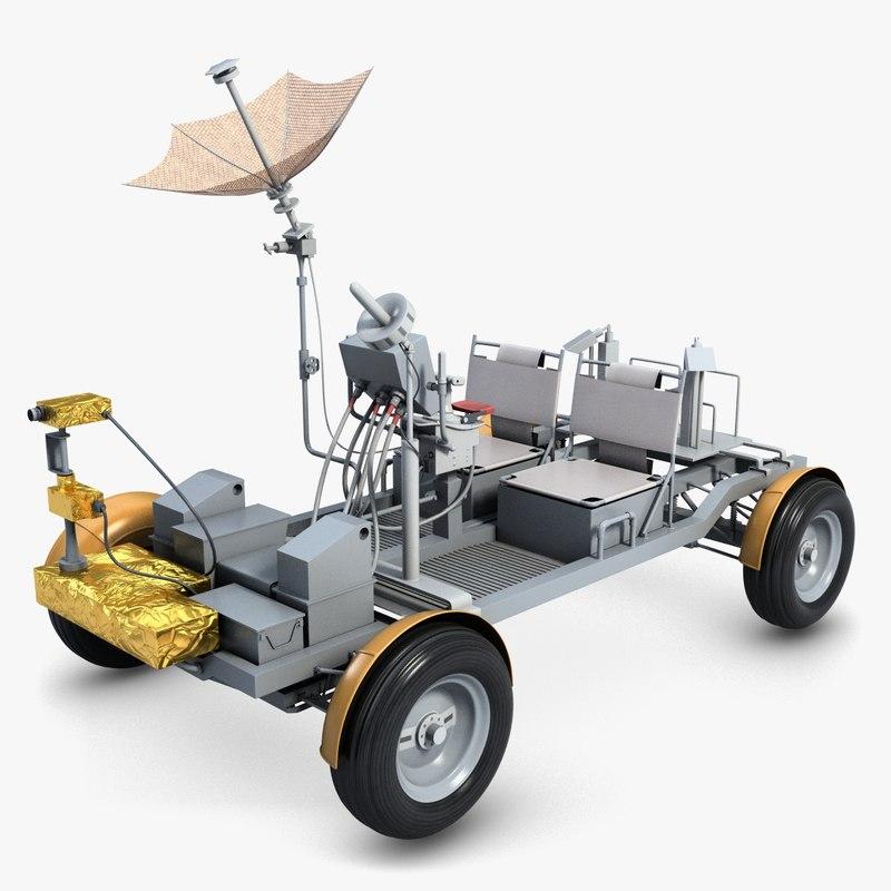 lunar rover apollo 15 3d model
