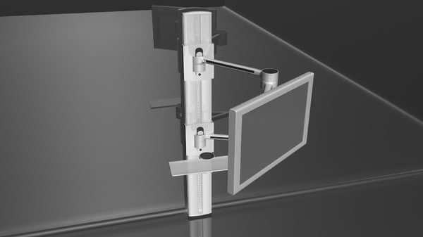 3d model wall-mounted monitor mowc218 mount