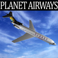 planet airways 727-200 727 3d max