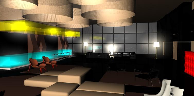 c4d hotel lobby