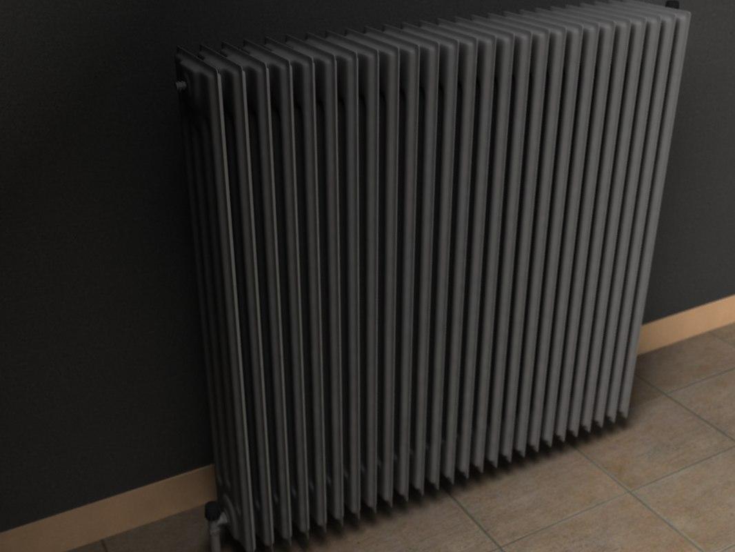 heating radiator 3d lwo