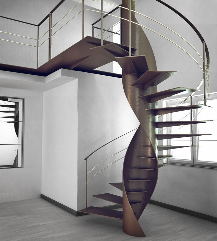 3d spiral stairs