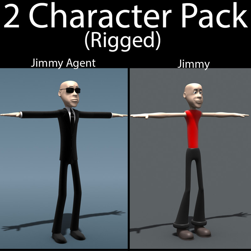 3d character pack 02 model
