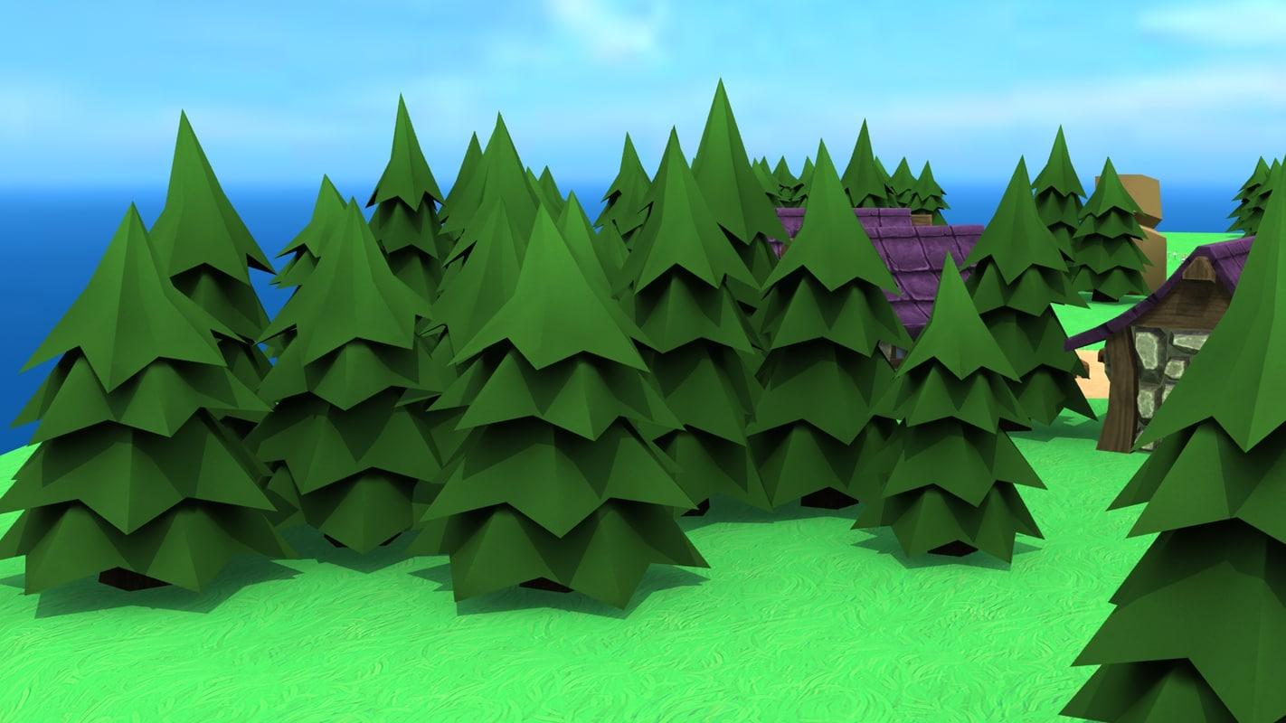 3d evergreen pine tree