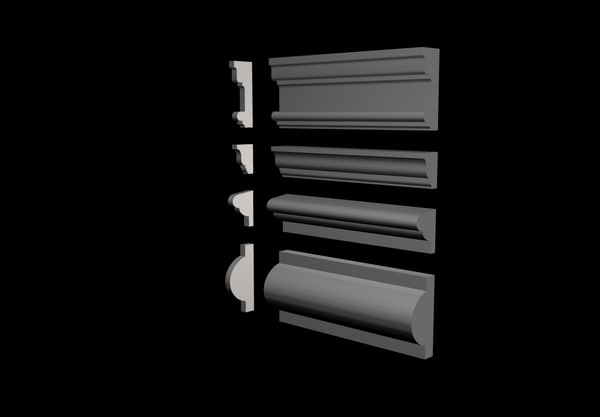 3d model of interior exterior trims package
