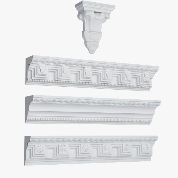 3d model cornice