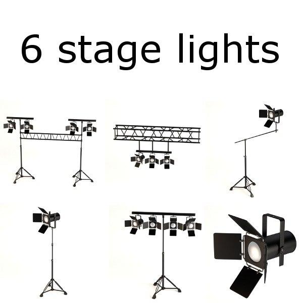 3d stage lights
