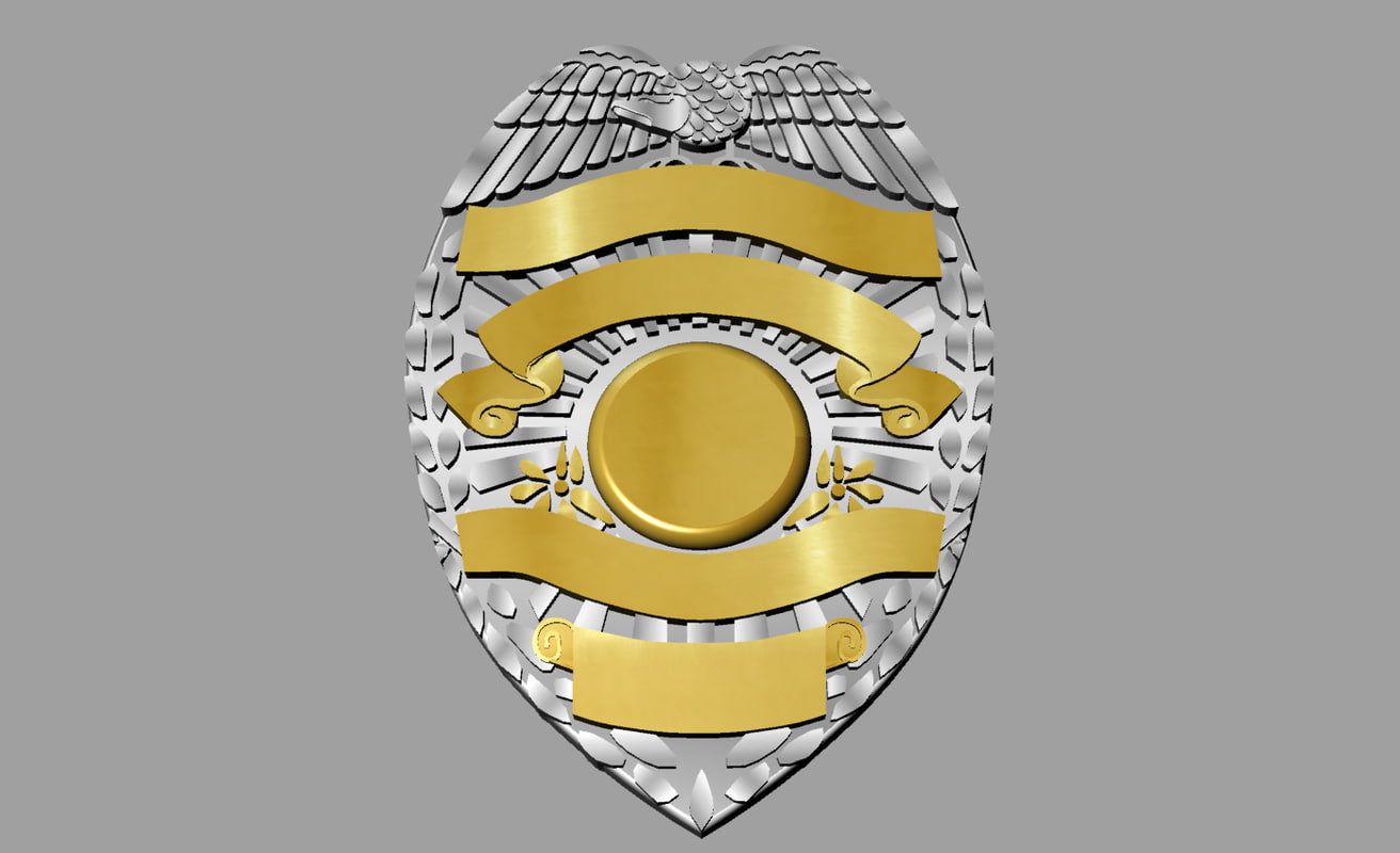 badge 3d models for download turbosquid