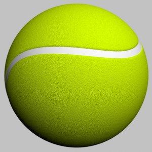 3d model ball tennis
