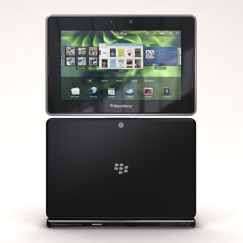 3d model blackberry 4g lte playbook