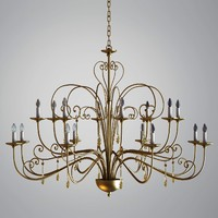 3d model chandelier gold pendants