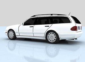 mercedes benz s210 3d model