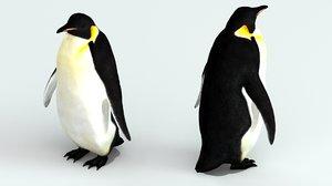 penguin emperor 3d model