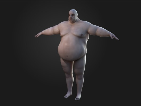 big man 3d max