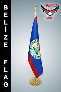 3dsmax belize flag