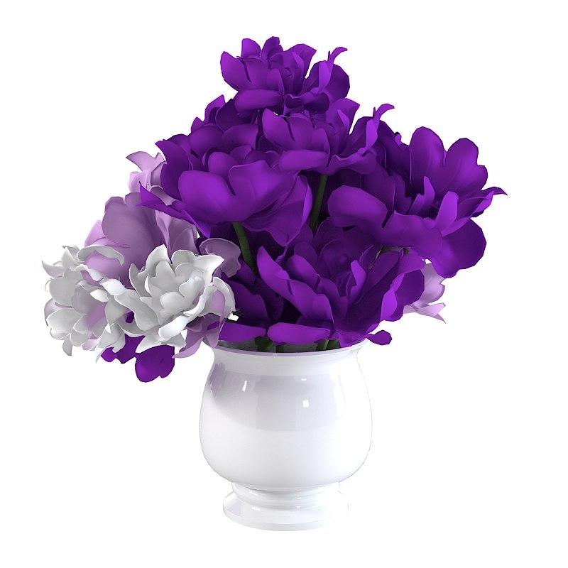 3d flower bouquet model