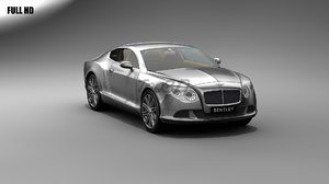 3d model bentley gtc speed