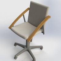 3ds max chair stool furniture office