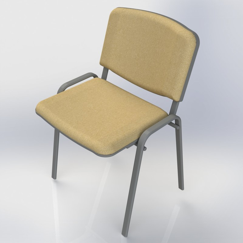 chair stool furniture office 3d max