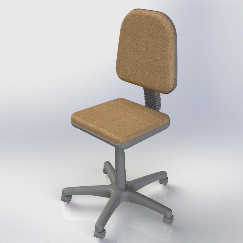 3d model chair stool