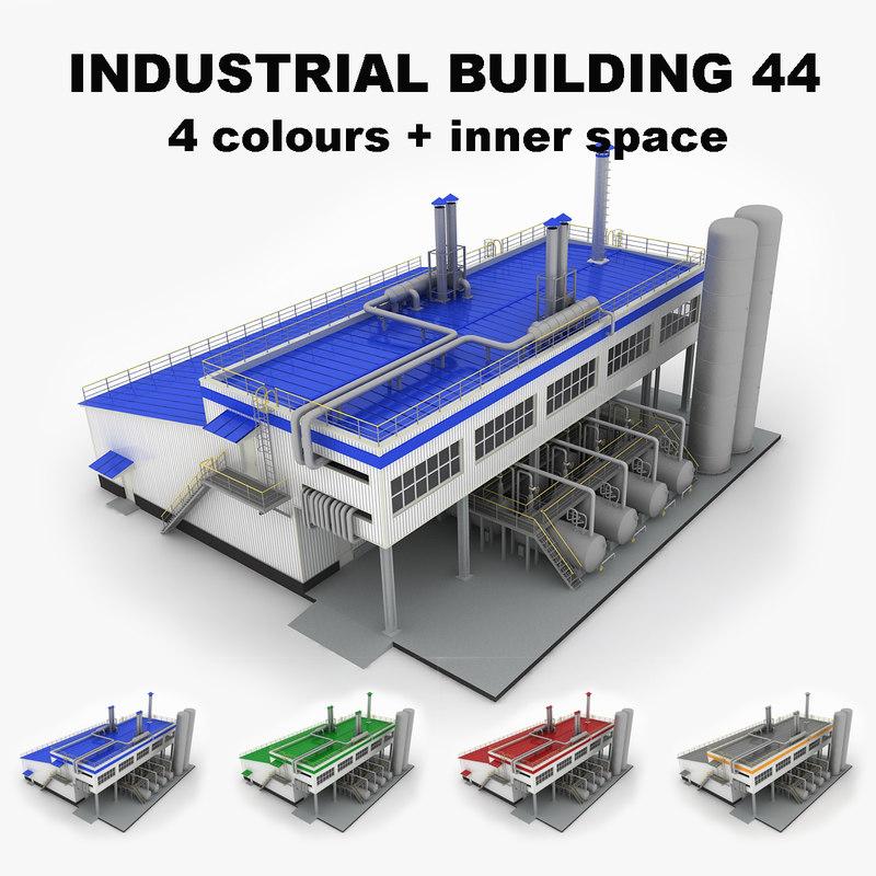 3d medium industrial building 44