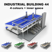 3d medium industrial building 44