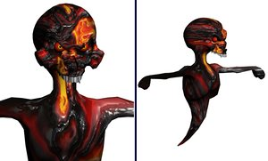 lava ghoul 3d max