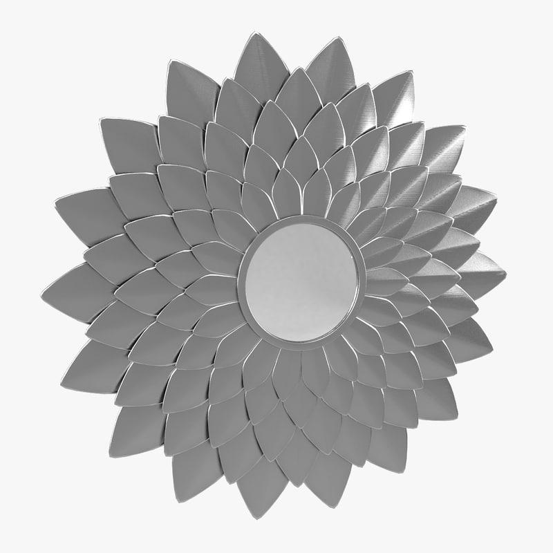 3d model leaf mirror