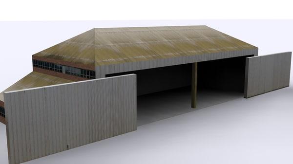 3d model maintenance hangar 1