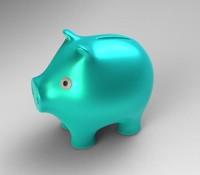 pig piggy bank 3d obj