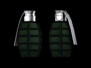 grenade prop 3d model