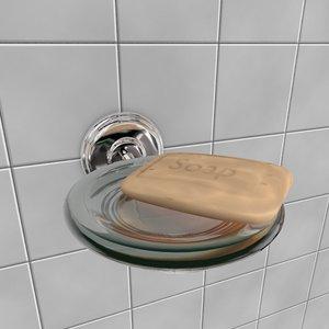 3d model of soap holder