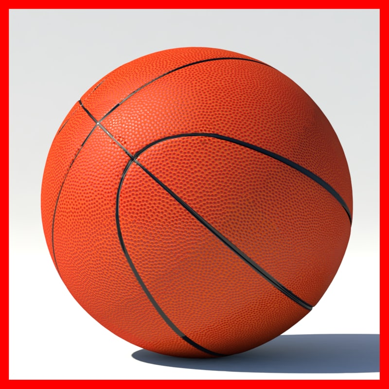 simple basketball 3d obj