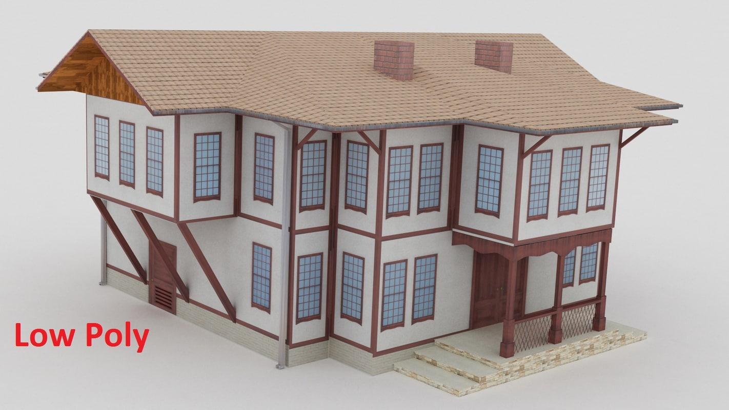 3d safranbolu houses model