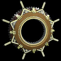 cinema4d steampunk window frame