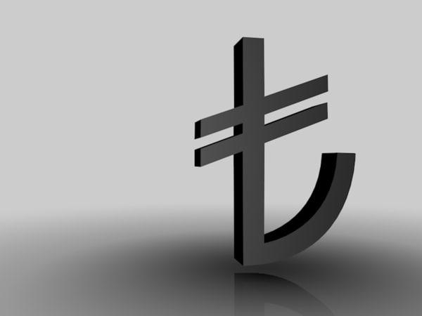 c4d turkish lira sign