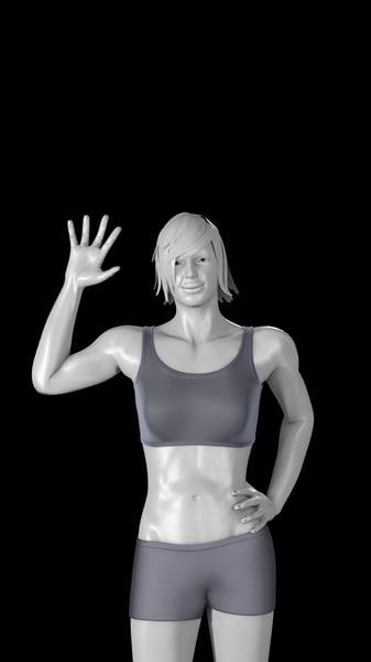 female basemesh rigged mesh body 3d obj